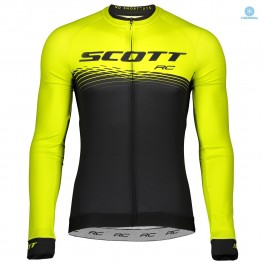 2019 Scott RC Black-Yellow Thermal Long Sleeve Cycling Jersey