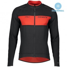 2019 Scott RC FF Black-Red Thermal Long Sleeve Cycling Jersey