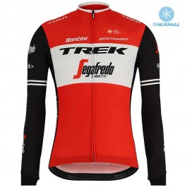 2019 Trek Factory Racing Red Thermal Long Sleeve Cycling Jersey