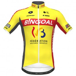 2020 Bingoal Wallonie Bruxelle Yellow Cycling Jersey