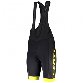 2019 Scott-RC-Team Black/Yellow Cycling Bib Shorts
