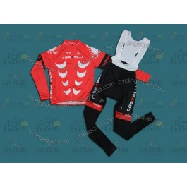 Castelli Red Cycling Long Sleeve Jersey And Bib Pants Set