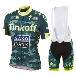 2015 Tinkoff Saxo Bank Camouflage Cycling Jersey And Bib Shorts Set