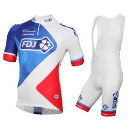2015 FDJ Team Cycling Jersey And Bib Shorts Set