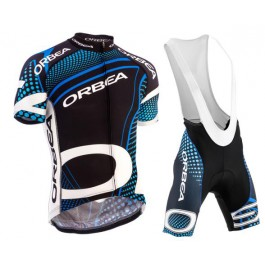 2015 Orbea Black With Blue Dot Cycling Jersey And Bib Shorts Set