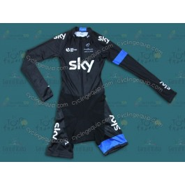 2014 Team Sky Long Sleeve Cycling Skinsuit Time Trail Skin Suits
