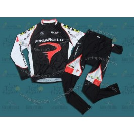 Pinarello Black Cycling Long Sleeve Jersey And Pants Set