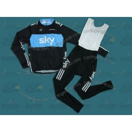 Sky Cycling Long Sleeve Jersey And Bib Pants Set