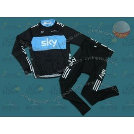 Sky Thermal Cycling Long Sleeve Jersey And Pants Set