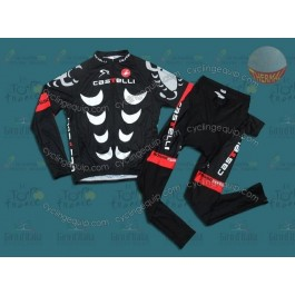 Castelli Black Thermal Cycling Long Sleeve Jersey And Pants Set