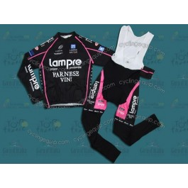 Lampre Black 2010 Italy Cycling Long Sleeve Jersey And Bib Pants Set