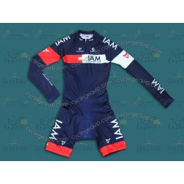 2014 Team IAM Chrome Long Sleeve Cycling Skinsuit Time Trail Skin Suits