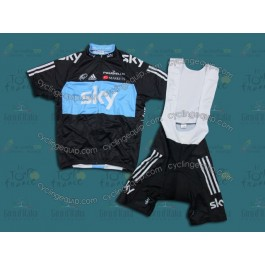 2012 Sky Professional Cycling Jersey And Bib Shorts Set