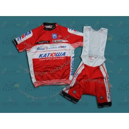 2012 Team Katusha Red Cycling Jersey And Bib Shorts Set