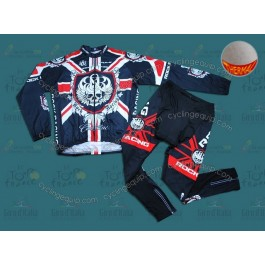 Rock Racing London Champion Thermal Cycling Long Sleeve Jersey And Pants Set