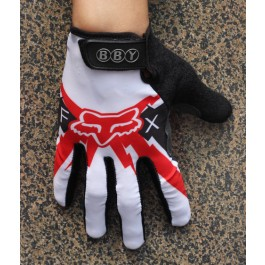 2014 Team Fox White And Red  - Thermal long Cycling Gloves