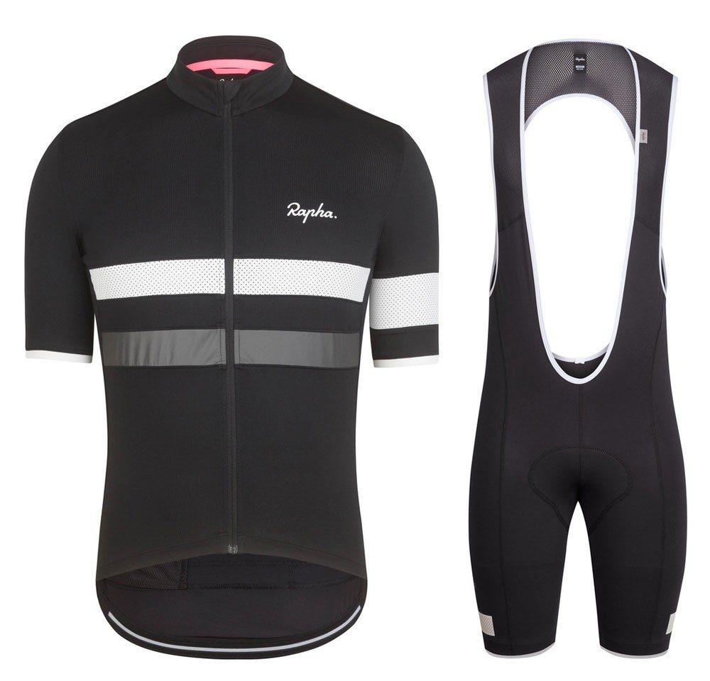 54e75100500 2017 Rapha Brevet Black-White Cycling Jersey And Bib Shorts Kit | We ...
