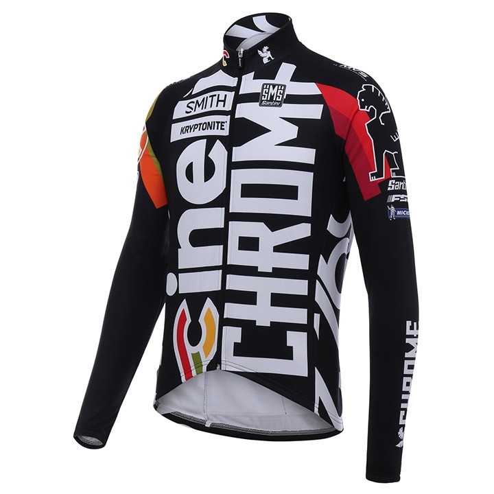 0163339ab 2017 Cinelli Chrome Training Black Long Sleeve Cycling Jersey And ...