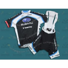 2011 Subaru Trek Black Cycling Jersey And Bib Shorts Set