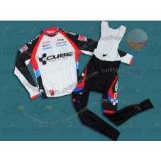 2011 Cube Team Thermal Cycling Long Sleeve Jersey And Bib Pants Set