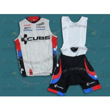2011 Cube Team Cycling Vest And Bib Shorts Set
