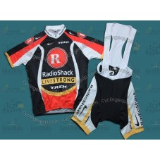 2011 Radioshack Black and red Champion Cycling Jersey And Bib Shorts Set