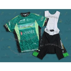 2011 Europcar Vendee Cycling Jersey And Bib Shorts Set