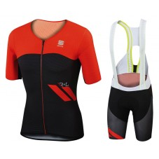 2017 Sportful R&D Cima Red Cycling Jersey And Bib Shorts Set