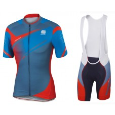 2016 Sportful Spark Blue-Red Cycling Jersey And Bib Shorts Set