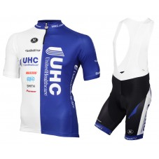 2016 Vermarc UHC White-Blue Cycling Jersey And Bib Shorts Set