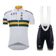 2017 Australia Country Team White Cycling Jersey And Bib Shorts Kit