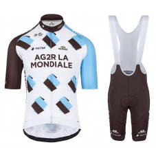 2017 Team Ag2r Cycling Jersey And Bib Shorts Kit