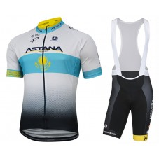 2017 Astana Kazakh Champion Cycling Jersey And Bib Shorts Kit