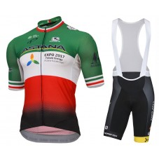 2017 Astana Kazakh Italy Champion Cycling Jersey And Bib Shorts Kit