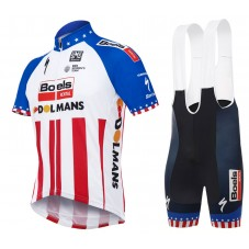 2017 Boels Dolmans US Champion Cycling Jersey And Bib Shorts Kit