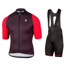 2017 Etxeondo NEO Black-Red Cycling Jersey And Bib Shorts Kit