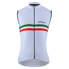 2016 De Marchi PT Italy Flag White Cycle Vest