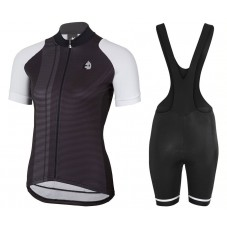 2017 Etxeondo Nero Black-White Cycling Jersey And Bib Shorts Kit