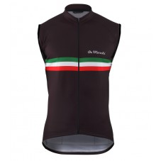 2016 De Marchi PT Italy Flag Black Cycle Vest