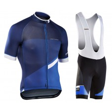 2017 Northwave Blade 2.0 Blue Cycling Jersey And Bib Shorts Kit