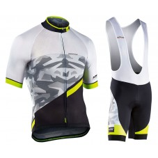 2017 Northwave Blade 2.0 Camouflage White Cycling Jersey And Bib Shorts Kit