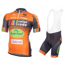 2016 Color-Code Aquality Orange Protect Cycling Jersey And Bib Shorts Set