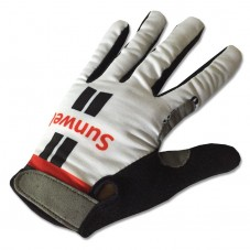2017 Sunweb Giant White Thermal Long Gloves