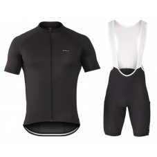 2016 De Marchi Corsa Evo Black Cycling Jersey And Bib Shorts Set