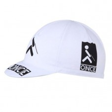 ONCE White Retro Cycling Cap