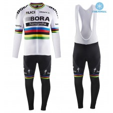 2017 Team Bora Hansgrohe World Champion Thermal Cycling Jersey And Bib Pants Kit