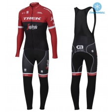 2017 Trek Pro Race Red Thermal Cycling Jersey And Bib Pants Kit
