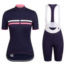2017 Rapha Brevet Blue-Pink Women Cycling Jersey And Bib Shorts Kit