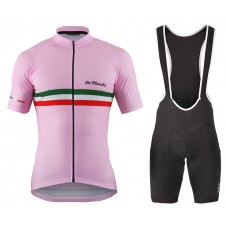 2016 De Marchi PT Italy Flag Pink Cycling Jersey And Bib Shorts Set