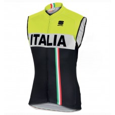 2016 Sportful Italy IT Black-Yellow Cycle Vest